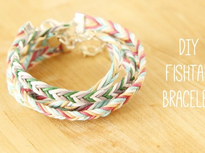 Jewellery Making: How to plait a DIY fishtail braid friendship bracelet tutorial