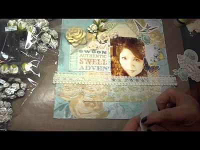 """Just Me"" 12x12 Scrapbook Layout and tutorial"