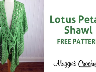 Lotus Petals Shawl Free Crochet Pattern - Right Handed