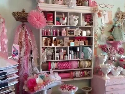 My Pink Shabby Craftroom Tour 2014
