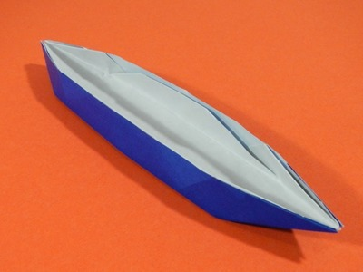 Origami - How to fold a boat (sampan)