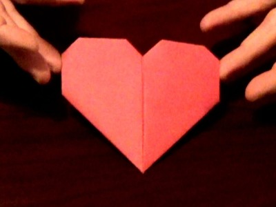 Origami Valentine Day Heart  - Great way to send a love note