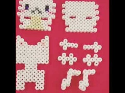 [Perler Beads]How to build Cat!
