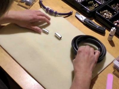Regaliz® Leather Bracelet - Black Leather Bracelet for a Men