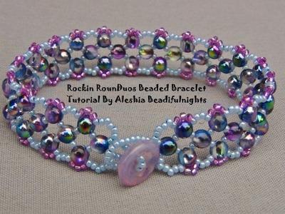 Rockin RounDuo Beaded Bracelet Tutorial