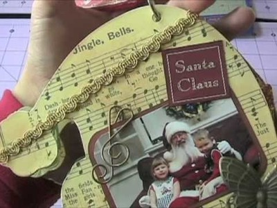 Santa Hat Christmas Mini Scrapbook Album