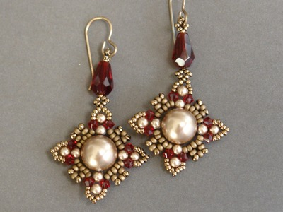 Sidonia's handmade jewelry - Oriental earrings - Beading tutorial