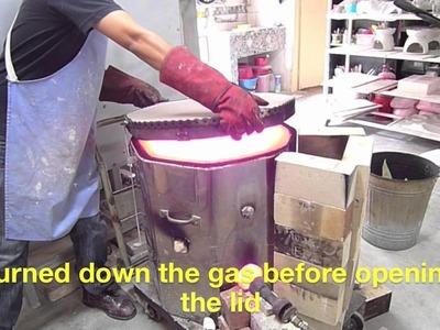Test Raku firing No 1 (using transformed electric kiln) - Clay Craft Malaysia