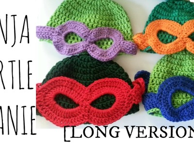 TMNT Beanie *Childs Size* | Crochet Tutorial [Long Version]