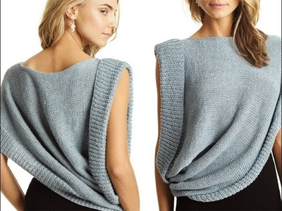 #16 Asymmetrical Draped Top, Vogue Knitting Spring.Summer 2013