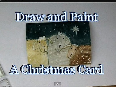 3 SHEEP CHRISTMAS CARD, Draw and paint a cute card, paper crafts, cardmaking, how to diy,