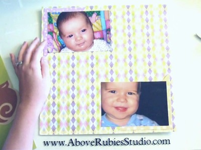 Baby Scrapbook Page Layout Using SCAL and Stamping Solutions Cartridge