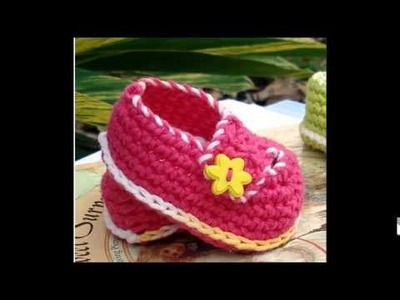 Crochet Baby Booties   Newborn to 12 Month Old Sizes