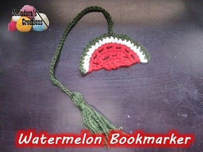 Crochet Watermelon Book Marker *plus* How to make a Tassel