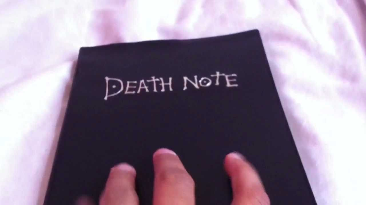 Death Note Notebook Unboxing