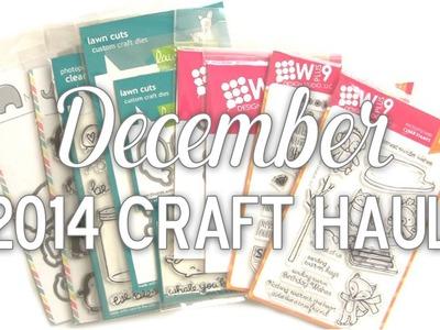 December 2014 Craft Haul by Pretty Pink Posh