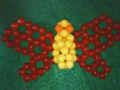DIY,beads,cara membuat bentuk kupu-kupu dari manik-manik,how to make a butterfly shape of beads