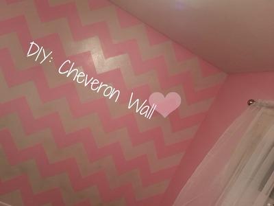DIY: Chevron Wall! (Zig Zag)