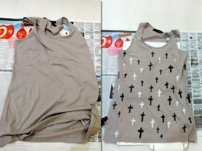 DIY Cross Tank Top. Pimp Your Old T Shirt