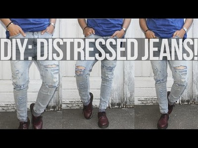 DIY: Distressed Jeans ft. Sammydress.com