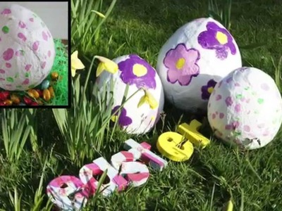 DIY Easter Decorations - How to make a plaster cloth easter egg