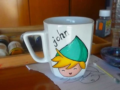 DIY: Gift Idea - Painting chibi Link on a mug