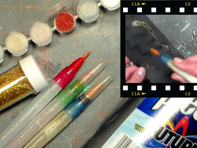 "DIY GLITTER Pens {Homemade ""Wink"" of Stella pens}"