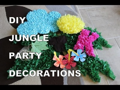 DIY Jungle Party Decorations