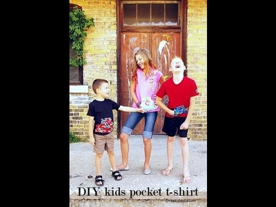 DIY kids Tshirt Refashion