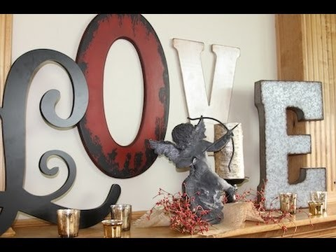 DIY LOVE Letters Valentine's Day Decorations | ShowMeCute