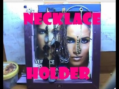♥ DIY necklace Holder\HangerTutorial (Necklace Organization and Storage)  ♥ ( • ◡ • )