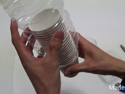 DIY paper cup dispenser