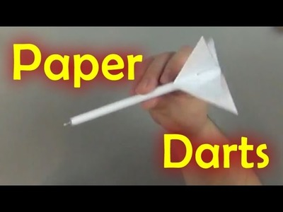 DIY Paper Darts with Office Supplies - Fun Science #5