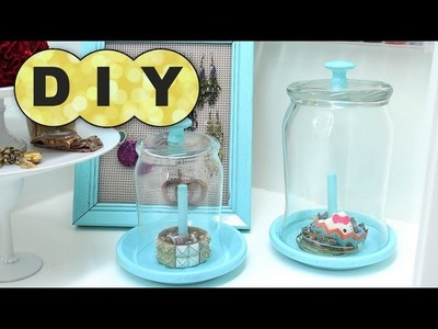 DIY Rings & Bracelets Cloche (Pottery Barn Inspired)