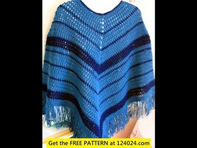 Easy crochet poncho free patterns