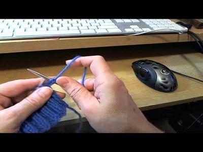 English American Throwing knit 2, purl two rib