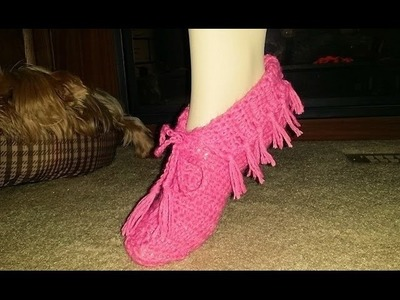 For Beginners ~ Glama's Super Easy Moccasin Slippers
