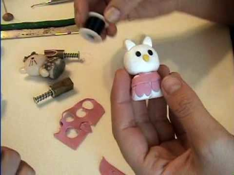 Hello Kitty How to Make in Polymer Clay by Garden of Imagination