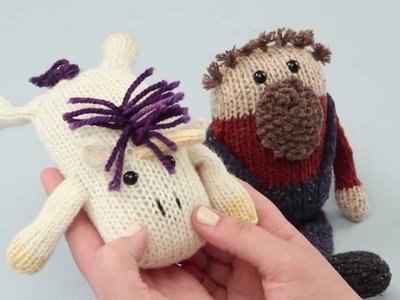 How to add fringe to knitted toys