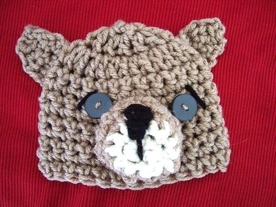 How to crochet a little bear hat, newborn to 1 year, crochet pattern
