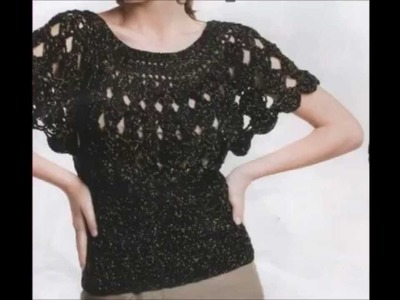 How to Crochet Blouse Black Free Pattern