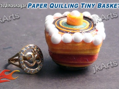 HOW TO: DIY Paper Quilling Tiny Basket JK Arts 431