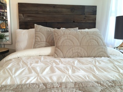 HOW TO: Make a Reclaimed Wood Headboard + GLITTER SURPRISE