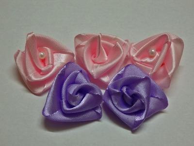 How to make easy ribbon roses, diy, tutorial, flores de cinta,facil