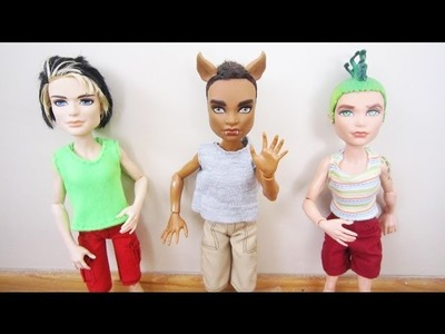 How to make shirts for Monster High male and Ken dolls - Doll Crafts