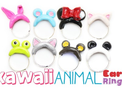 Kawaii Animal Ears Rings - DIY - Polymer Clay Jewelry Tutorial
