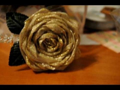 Metallic Wire Ribbon Flower!