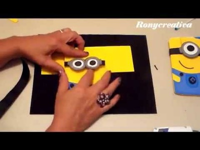 MINIONS  ESTUCHE DE FOMI  HOW TO MAKE FOAMI MINIONS DIY   Cópia