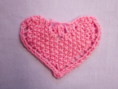 Perlen-Herz mit verkürzten Reihen - Pearl-Heart with short rows