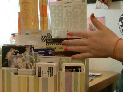 Scrapbook haul- Whats on my desk- Completed Projects